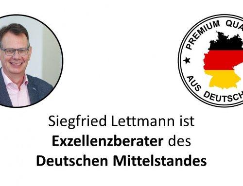 """SLIM Management GmbH ist """"Exzellenzberater des Deutschen Mittelstands"""""""